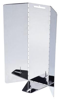 Déco - Bougeoirs, photophores - Bougeoir de voyage / Miroir à poser ou suspendre - Maison Martin Margiela - Miroir - Inox poli