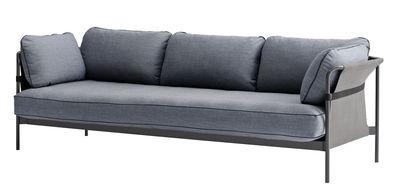 Canapé droit Can / 3 places - Structure grise - Hay gris,gris-bleu en métal