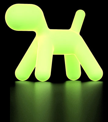 Furniture - Kids Furniture - Puppy XL Children's chair - Fluorescent version by Magis Collection Me Too - Pale green / Fluorescent - roto-moulded polyhene