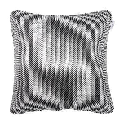 Coussin d'extérieur Evasion / 44 x 44 cm - Fermob gris/noir en tissu