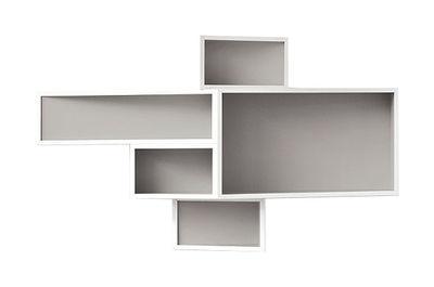 Etagère SheLLf /Petit modèle Bicolore - Kristalia blanc,gris en matière plastique