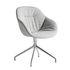 Fauteuil pivotant About a chair AAC121 Soft / Dossier haut - Tissu intégral matelassé - Hay