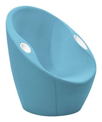 Ouch Gepolsterter Sessel mit Armlehnen - Bezug aus Stoff - Casamania - Hellblau