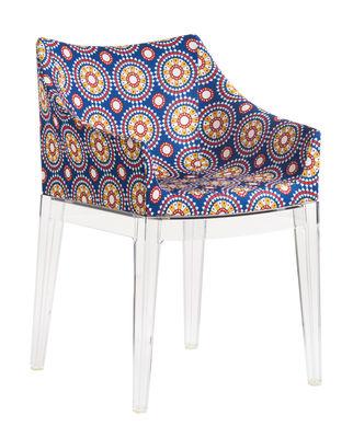 Madame La Double J Gepolsterter Sessel / Stoffbezug - Kartell - Kristall,Ruote