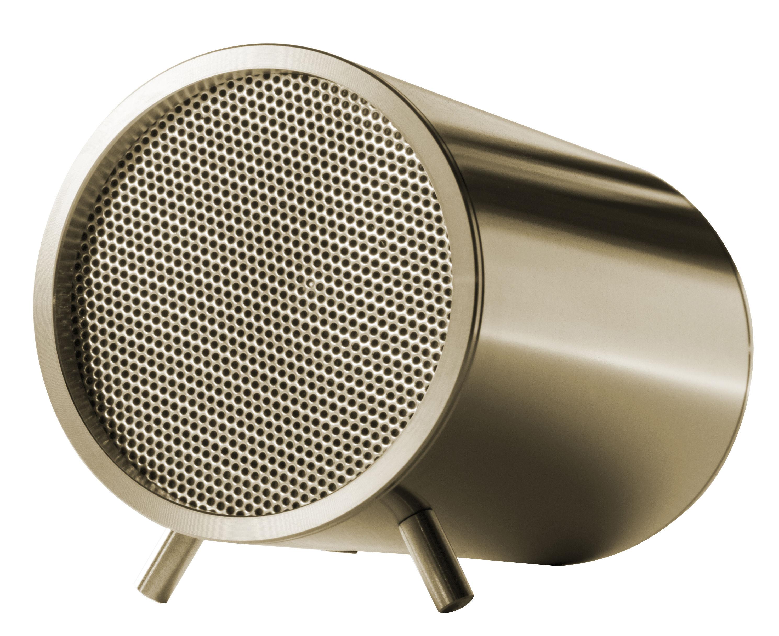Fête des pères - Objets connectés - Haut-parleur Tube / Bluetooth - Ø 5 cm - LEFF amsterdam - Laiton - Acier inoxydable