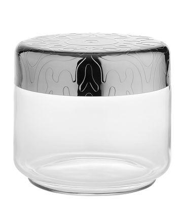 Tischkultur - Boxen und Aufbewahrung - Dressed hermetisch verschließbares Glas / H 9 cm - 50 cl - Alessi - 50 cl / Transparent & Stahl - Glas, rostfreier Stahl