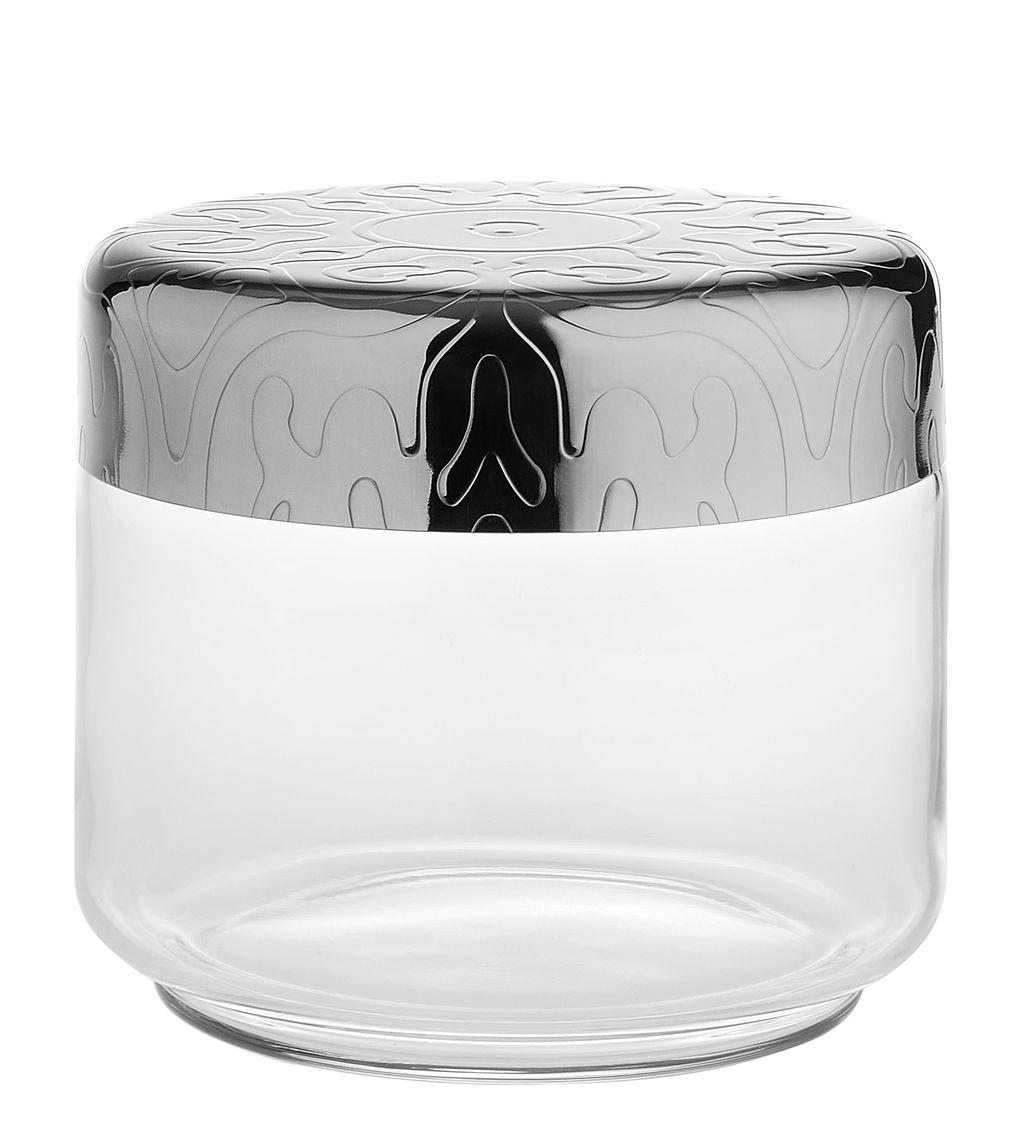 Küche - Dosen, Boxen und Gläser - Dressed hermetisch verschließbares Glas / H 9 cm - 50 cl - Alessi - 50 cl / Transparent & Stahl - Glas, rostfreier Stahl