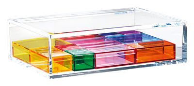 Accessories - Bathroom Accessories - Multi Assortment Jewellery box by Nomess - Clear, multicolor - Acrylic