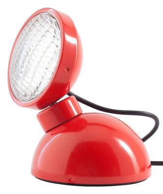 Luminaire - Lampes de table - Lampe de table 1969 - Azimut Industries - Rouge - Métal laqué