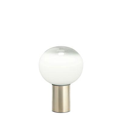 Luminaire - Lampes de table - Lampe de table Laguna / Ø 16 x H 24 cm - Artemide - H 24 cm / Laiton - Aluminium, Verre soufflé