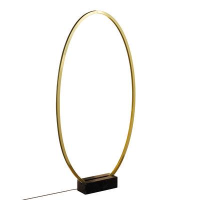 Luminaire - Lampadaires - Lampe Ellisse LED / L 70 x H 135 cm - Anneau à suspendre ou poser - Nemo - Anneau / Or - Aluminium extrudé