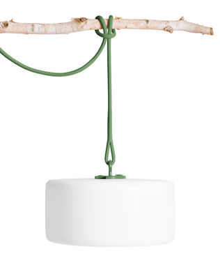 Lampe sans fil Thierry Le swinger LED / Baladeuse à poser, suspendre ou planter - Fatboy blanc,vert en matière plastique