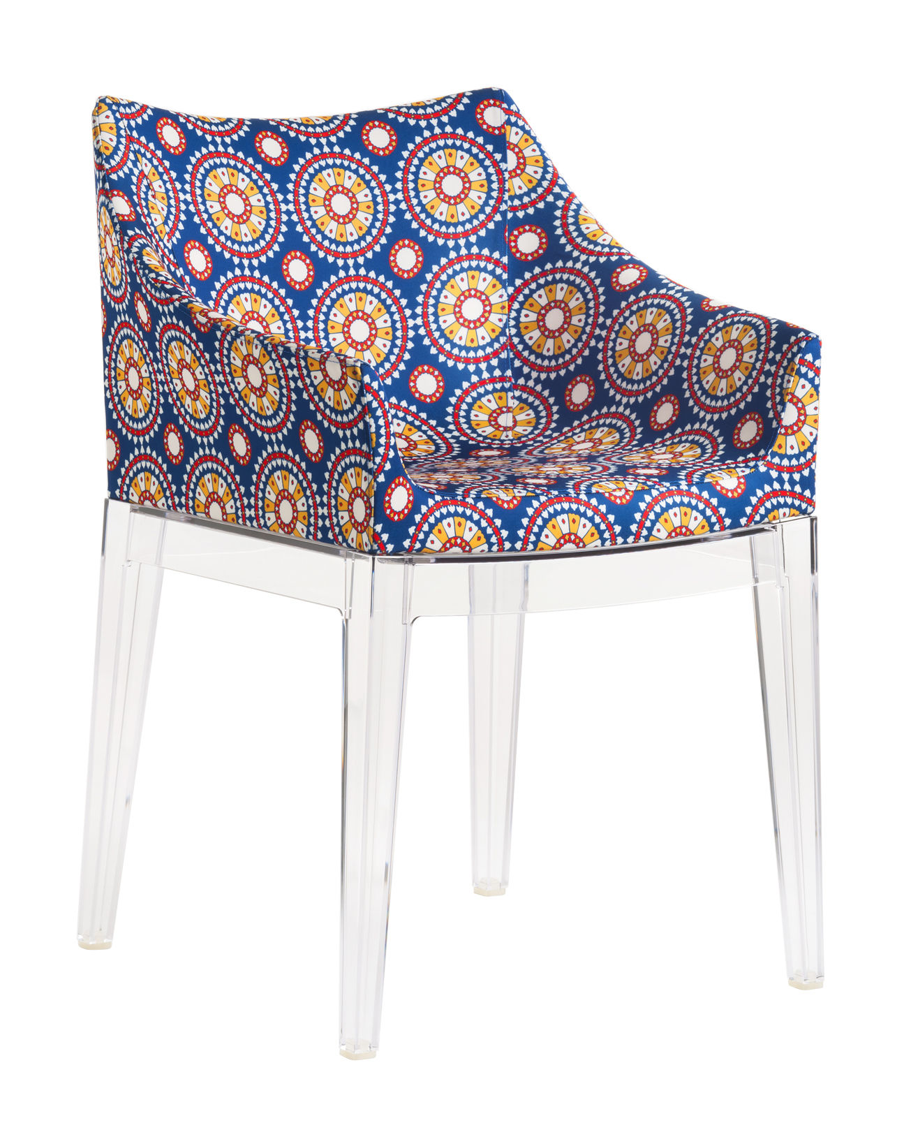 Furniture - Chairs - Madame La Double J Padded armchair - / Fabric by Kartell - Ruote fabric / Crystal legs - Fabric, Polycarbonate, Polyurethane foam