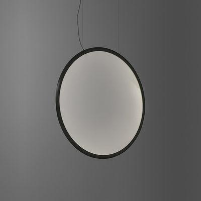 Leuchten - Pendelleuchten - Discovery Vertical LED Pendelleuchte / Ø 70 cm - Steuerbar über Smartphone-App - Artemide - Schwarz / Transparent - Aluminium, PMMA