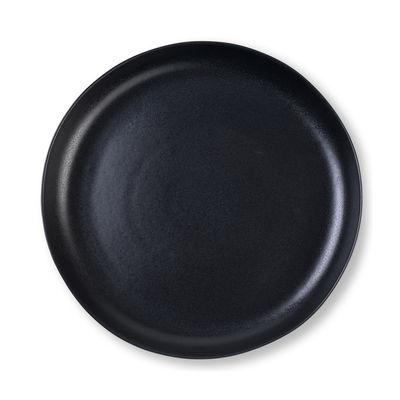 Plat / Assiette de présentation - Ø 35,5 cm / Grès mat - Au Printemps Paris noir mat en céramique
