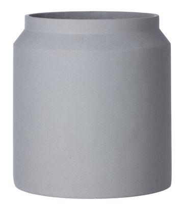 Outdoor - Pots et plantes - Pot de fleurs Contenant Large / Béton - Ø 36 x H 39 cm - Ferm Living - Gris clair - Béton