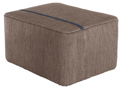 Furniture - Poufs & Floor Cushions - Mia Pouf - 77 x 57 x H 39 cm by Nanimarquina - Brown - Foam, New-zealand wool, Wood