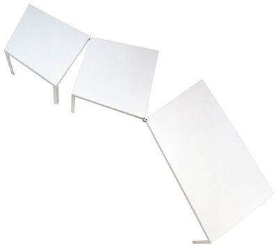 Furniture - Office Furniture - Campo d'Oro Rectangular table - Modular by De Padova - White laminate - Laminated finish aluminium