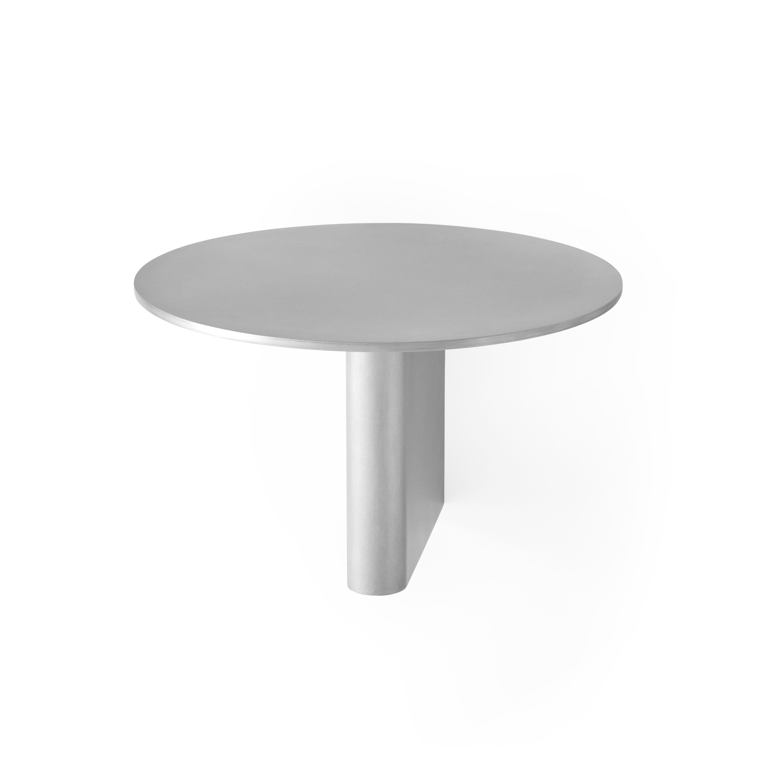 Furniture - Bookcases & Bookshelves - Column Shelf - / Aluminium - Ø 25 cm by &tradition - Aluminium - Aluminium