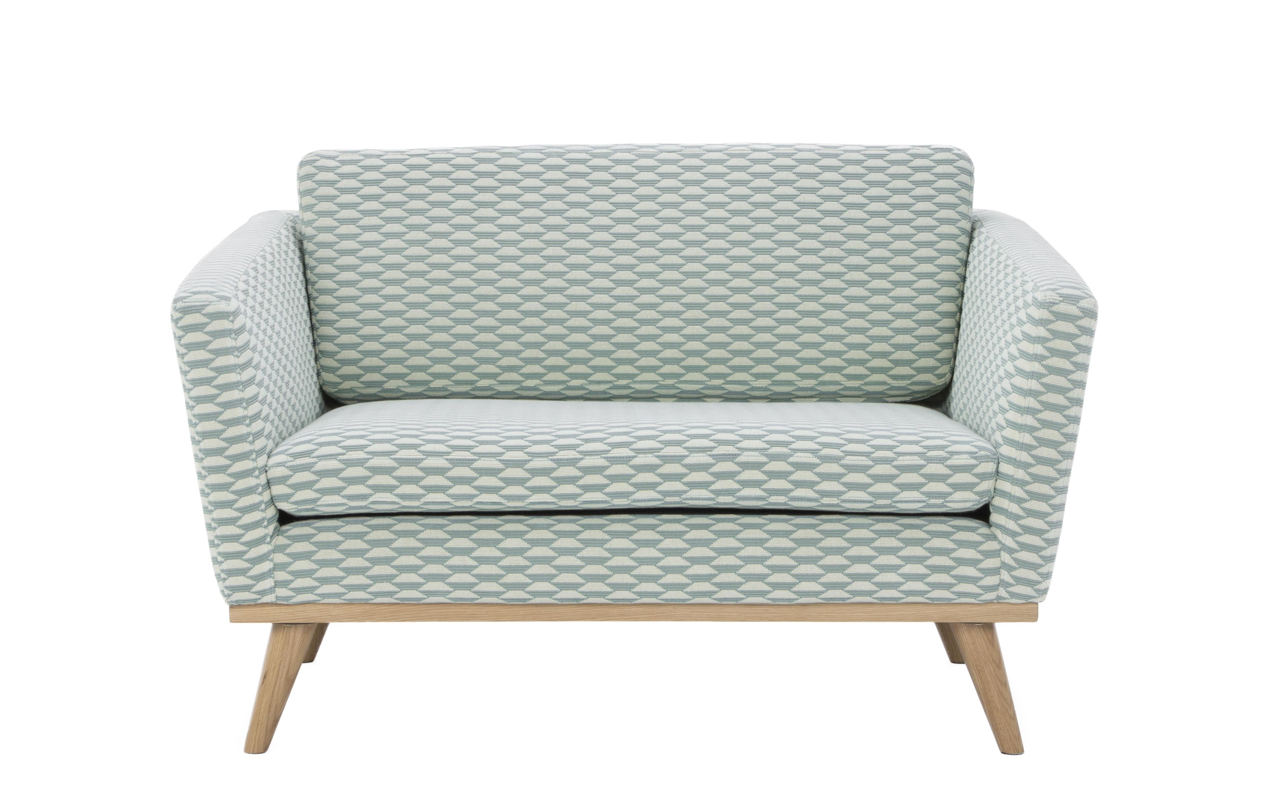 Möbel - Sofas - Sofa / L 120 cm - Stoff - RED Edition - Baku Seladongrün / Seladongrün - Baumwolle, Kaltschaum, massive Eiche