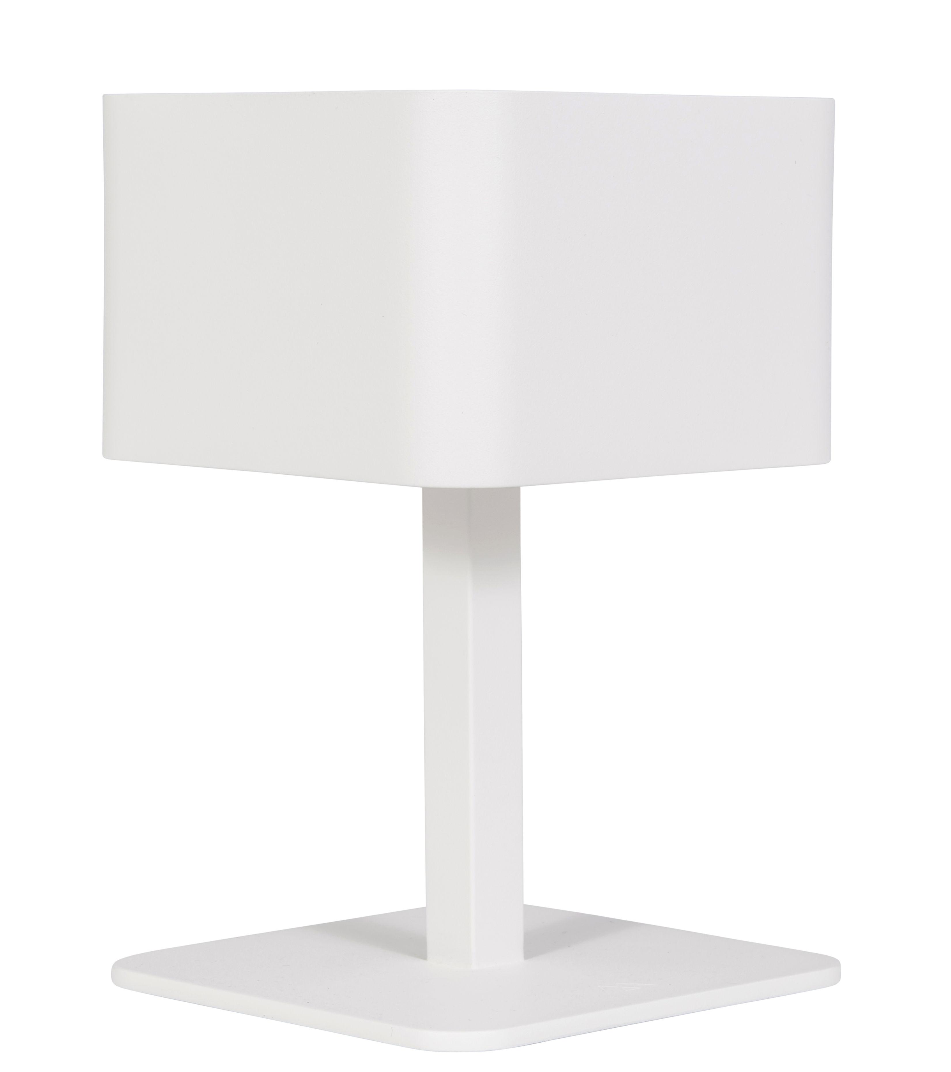 Lighting - Table Lamps - La Lampe Pose 02 Solar lamp by Maiori - White - Aluminium
