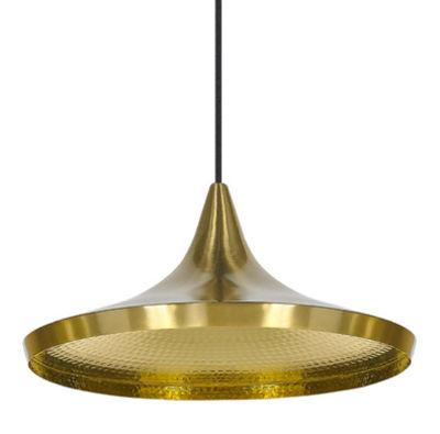 Illuminazione - Lampadari - Sospensione Beat Wide - / Wide di Tom Dixon - Ottone spazzolato - Ottone