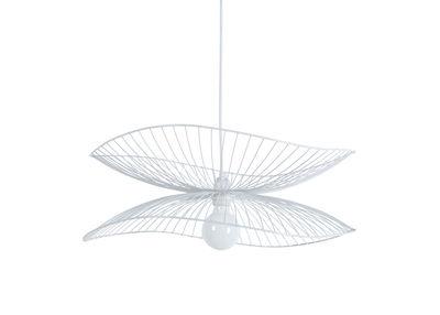 Illuminazione - Lampadari - Sospensione Libellule Small - / Ø 56 x H 20 cm di Forestier - Bianco - Fili di ferro laccati