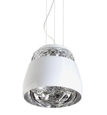 Illuminazione - Lampadari - Sospensione Valentine Baby - Ø 21 cm di Moooi - Blanc / Intérieur Chromé - metallo laccato, vetro soffiato