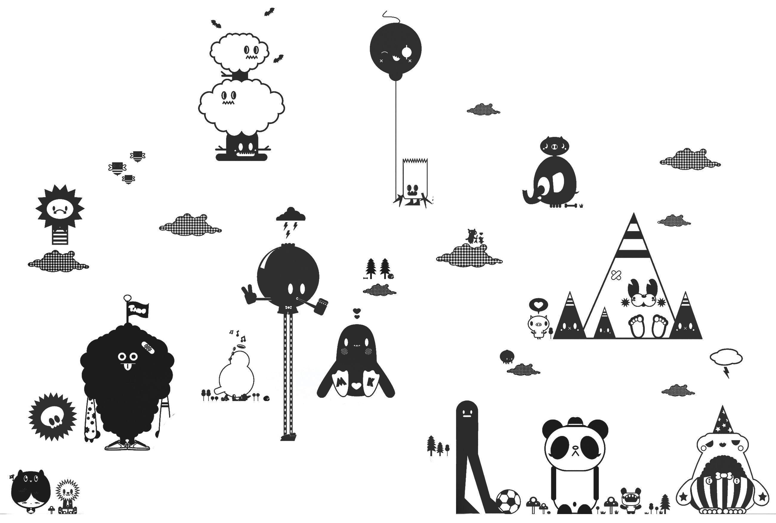 Decoration - Wallpaper & Wall Stickers - Friends 2 Black Sticker by Domestic - Black - Vinal