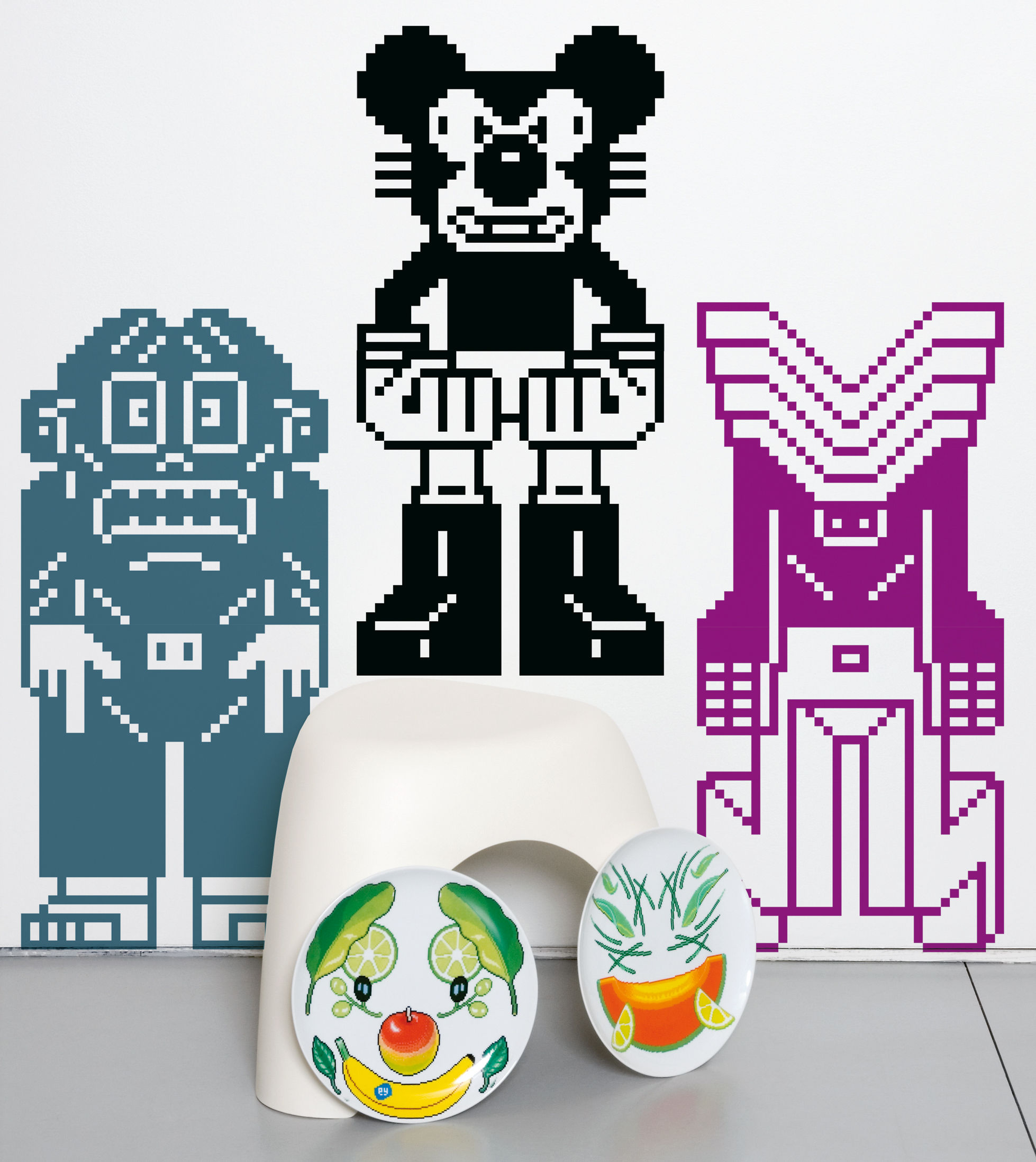 Déco - Stickers, papiers peints & posters - Sticker Peecol sticky 1 - Domestic - Multicolore - Vinyle