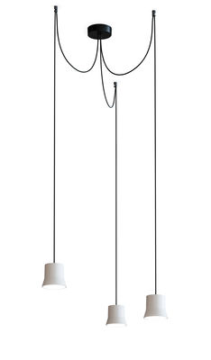 Suspension Gio Light Cluster / LED - 3 abat-jours - Artemide blanc,noir en métal