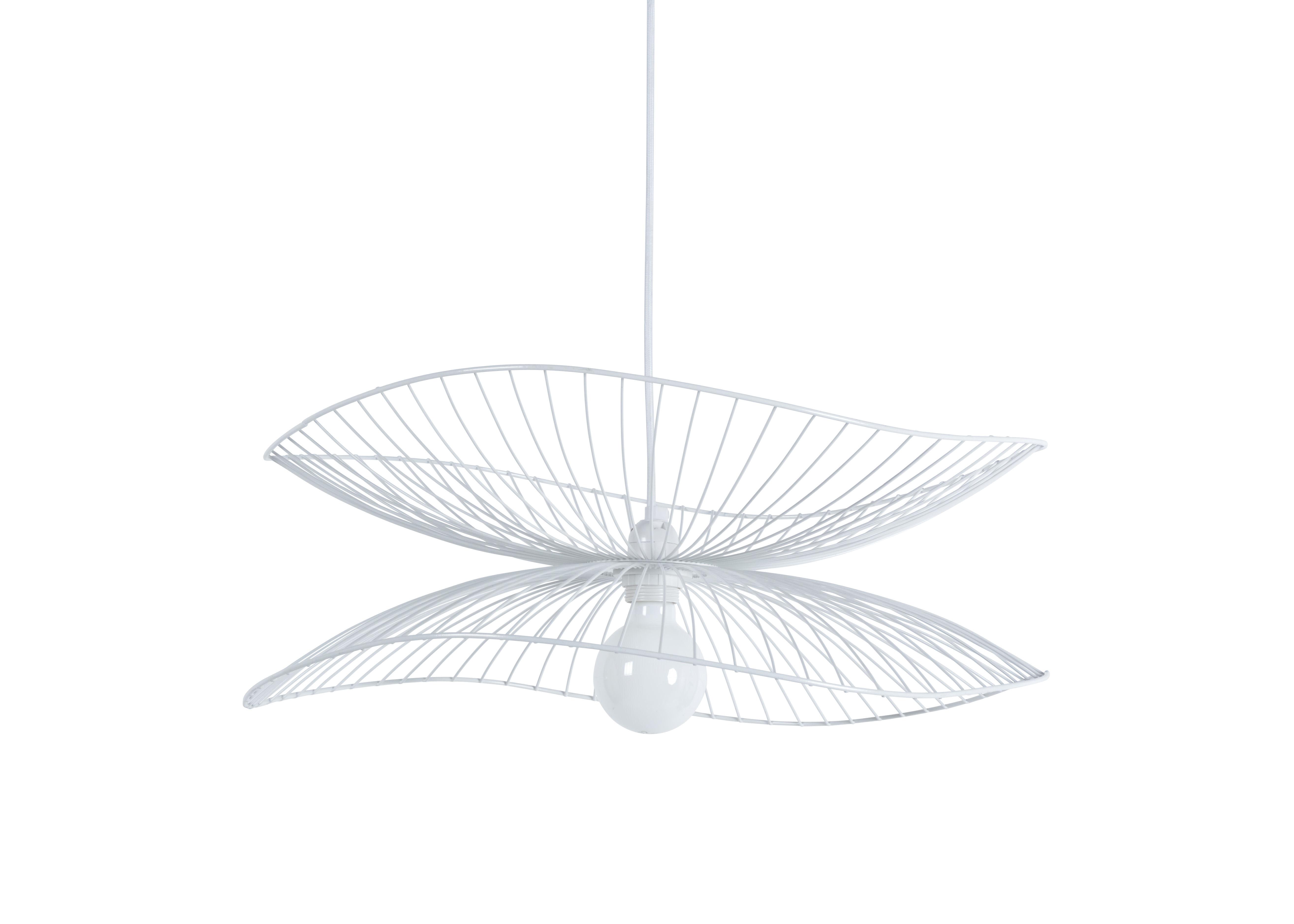 Luminaire - Suspensions - Suspension Libellule Small / Ø 56 x H 20 cm - Forestier - Blanc - Fils de fer laqués