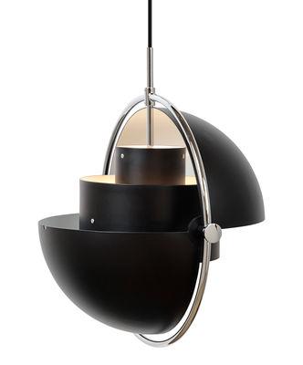 Suspension Multi-Lite / Modulable & orientable - Réédition 1972 - Gubi noir,chromé en métal