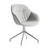 About a chair AAC121 Soft Swivel armchair - / High backrest - Full quilted fabric by Hay