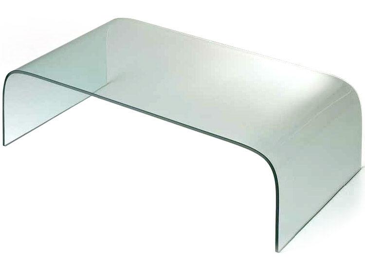 Mobilier - Tables basses - Table basse Curvi 1 L 130 cm - Glas Italia - Laqué blanc - L 130 cm - Verre