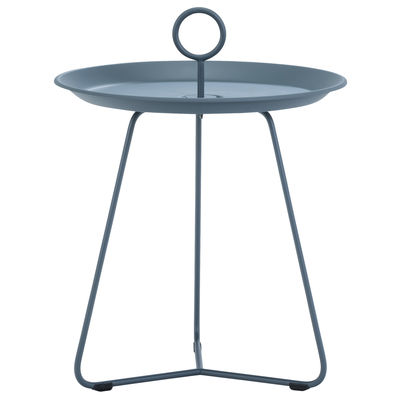 Mobilier - Tables basses - Table d'appoint Eyelet Small / Ø 45 x H 46,5 cm - Métal - Houe - Bleu nuit - Métal laqué époxy