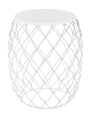 Table d'appoint Pina / Ø 32 cm - Magis blanc en métal