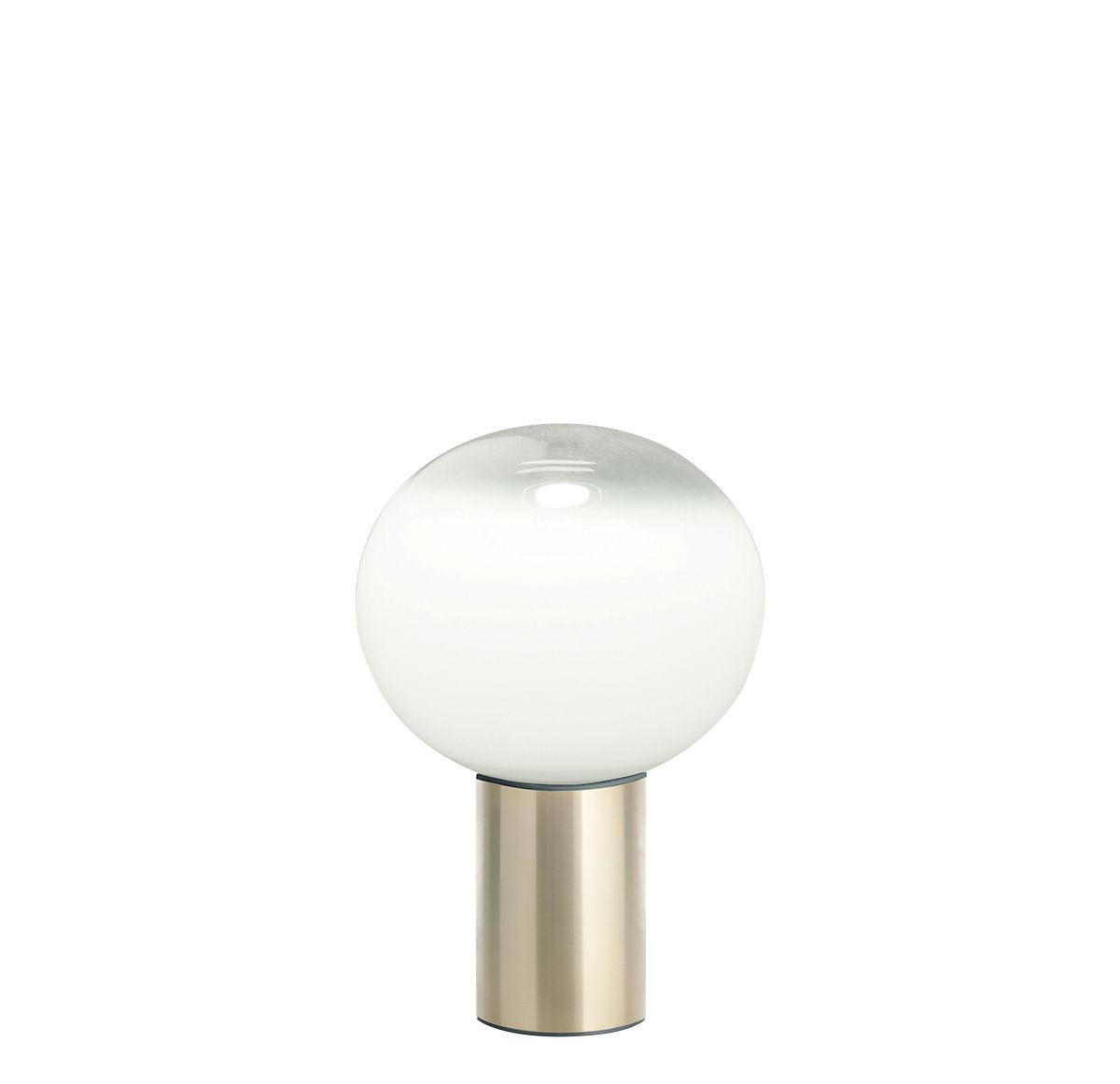Lighting - Table Lamps - Laguna Table lamp - / Ø 16 x H 24 cm by Artemide - H 24 cm / Brass - Aluminium, Blown glass