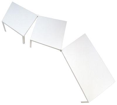 Mobilier - Bureaux - Table rectangulaire Campo d'Oro / Bureau - Modulable - De Padova - Blanc - Aluminium finition laminé