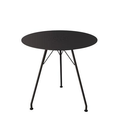 Jardin - Tables de jardin - Table ronde Circum / Aluminium - Ø 74 cm - Houe - Noir - Acier thermolaqué, Aluminium thermolaqué