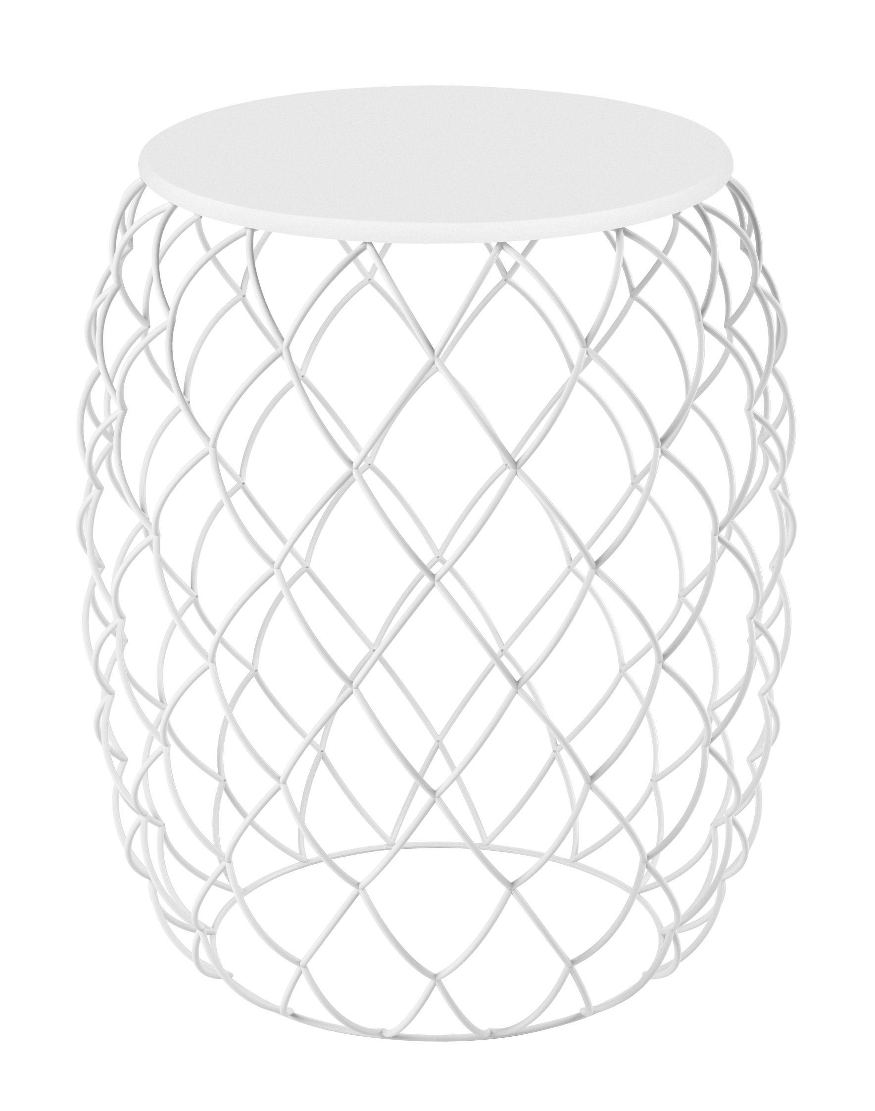 Arredamento - Tavolini  - Tavolino d'appoggio Pina - / Ø 32 cm di Magis - Bianco - Acciaio verniciato, HPL