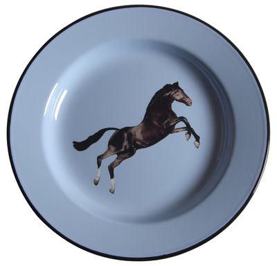 Tischkultur - Teller - Toiletpaper - Cheval Teller - Seletti - Pferd - emailliertes Metall