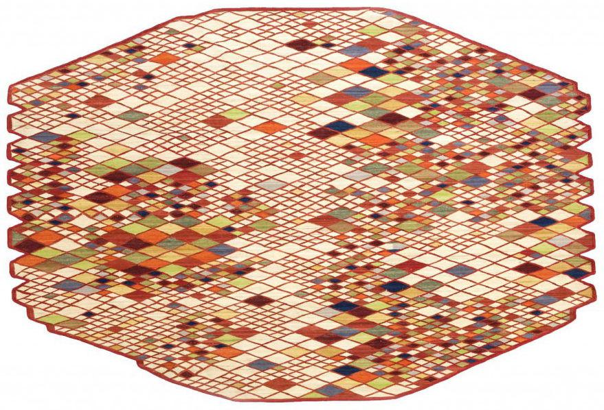 Möbel - Teppiche - Losanges Teppich 165 x 245 cm - Nanimarquina - Mehrfarbig - Wolle