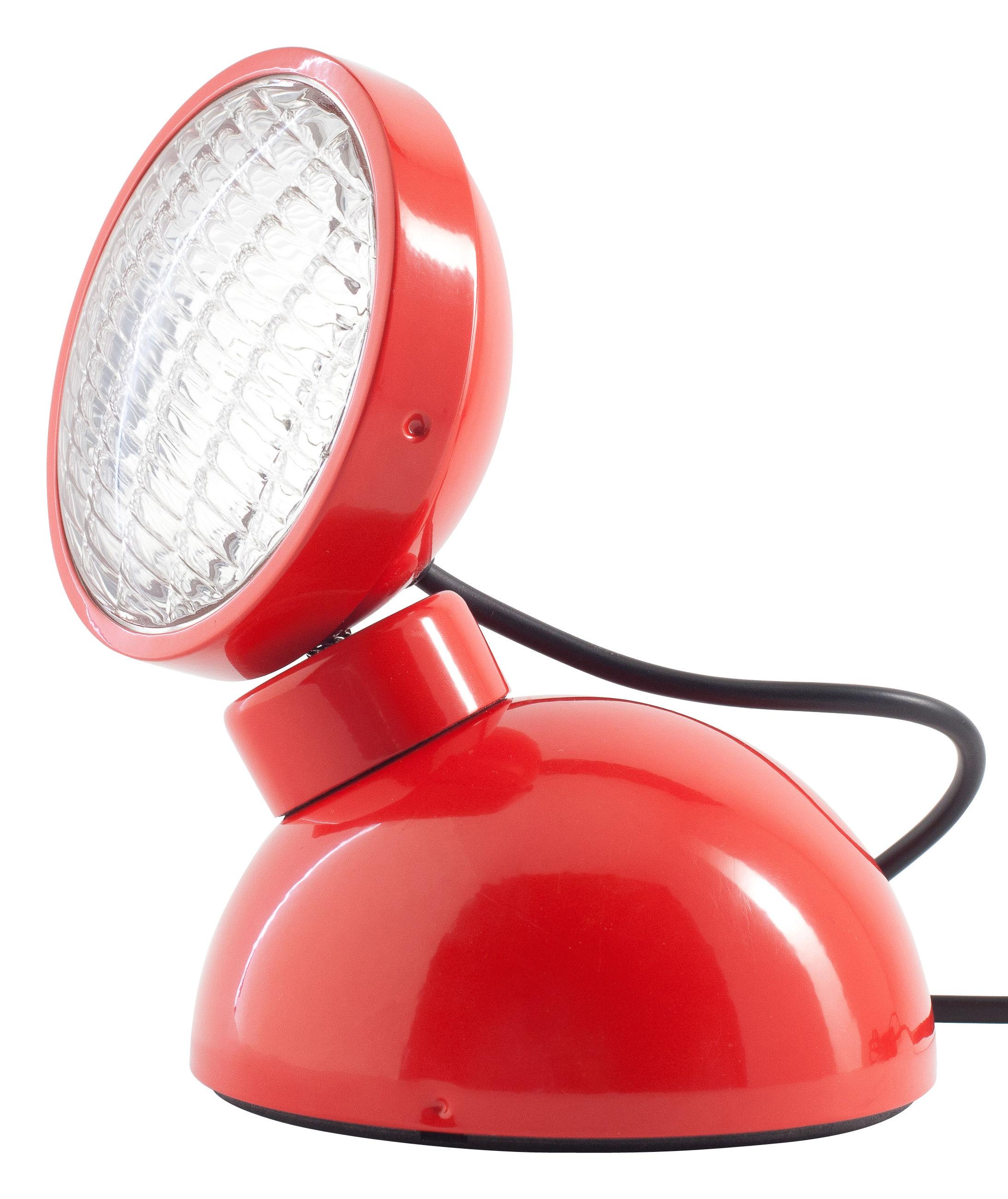 Leuchten - Tischleuchten - 1969 Tischleuchte - Azimut Industries - Rot - lackiertes Metall