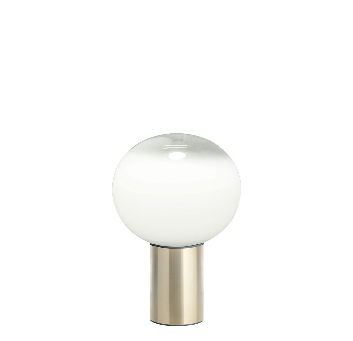 Leuchten - Tischleuchten - Laguna Tischleuchte / Ø 16 cm x H 24 cm - Artemide - H 24 cm / Messing - Aluminium, geblasenes Glas