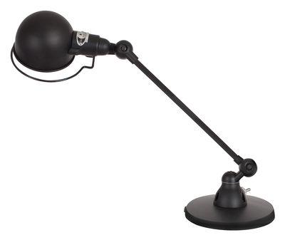 Leuchten - Tischleuchten - Signal Tischleuchte / mit schwenkbarem Arm - L 40 cm - Jieldé - Schwarzmatt - rostfreier Stahl