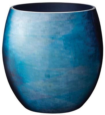 Vase Stockholm Horizon Large / H 23,4 cm - Stelton bleu en métal