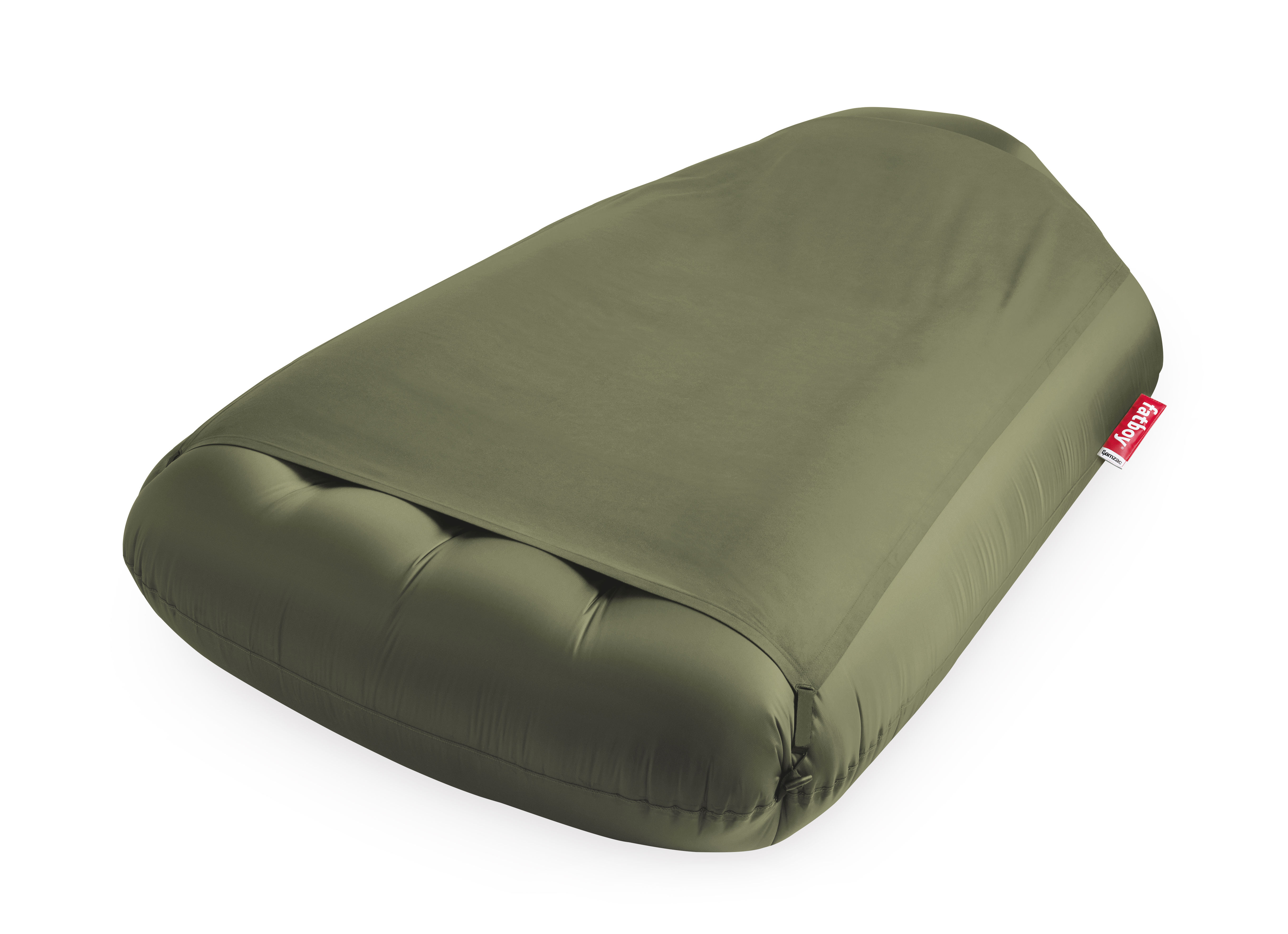 Furniture - Poufs & Floor Cushions - Lamzac L Deluxe Air mattress - / Limited edition - L 195 x W 112 cm by Fatboy - Olive green - Nylon, Polyester