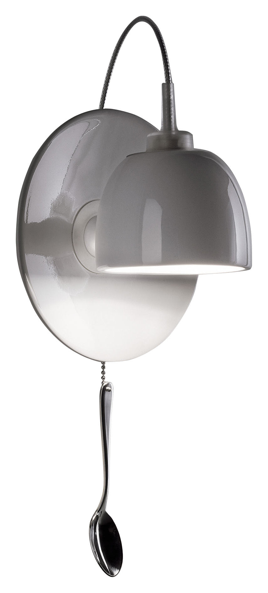 Illuminazione - Lampade da parete - Applique Light au Lait - Lampada di Ingo Maurer - Bianco porcellana - Acciaio inossidabile, Porcellana