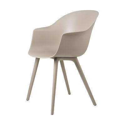 Furniture - Chairs - Bat OUTDOOR Armchair - / Polypropylene by Gubi - New beige - Polypropylene